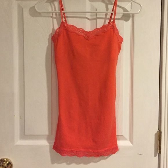 Lace Tank Top Soft Orange lace tank top from Aeropostale. Good condition.                                                       ✨Bundle with other items for a discount✨ Aeropostale Tops Tank Tops