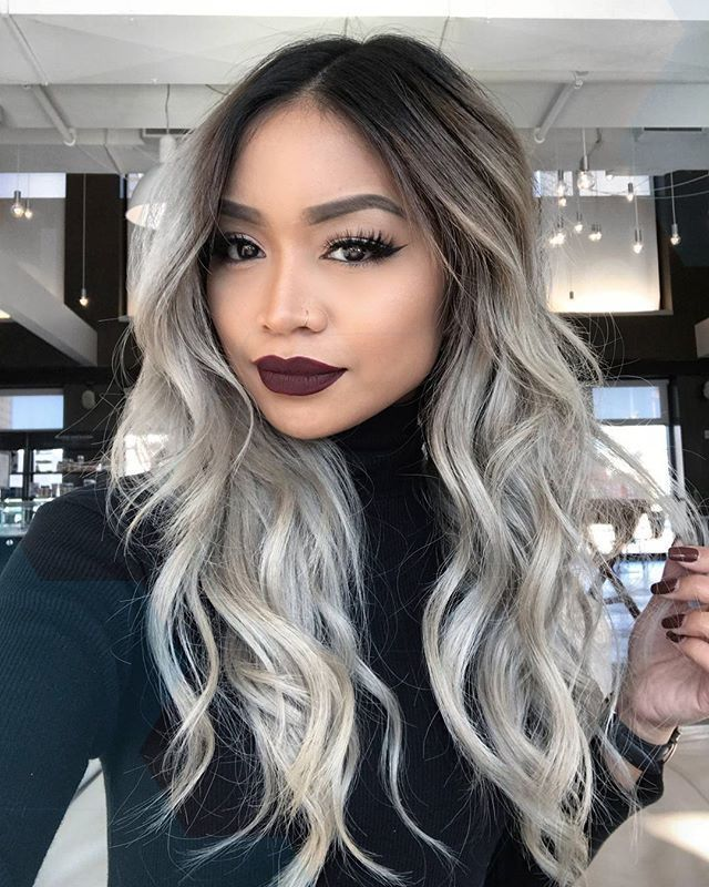 Incredibly Great Balayage Ombre Gray Hair Gray Ombre 2017 Light Hair Fashion Beauty, #like #balayage #beauty #fashion #frisuren