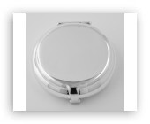 Engravable Sterling Round Flip Top Pillbox Made in USA $115.00