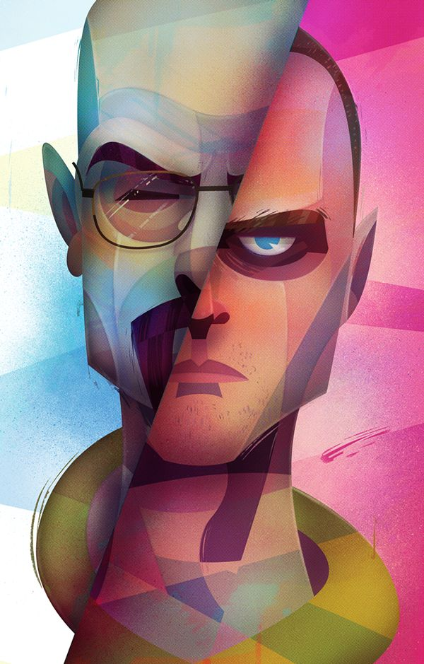 Pop Culture Meets Cubism in Carlos Lerms' Sleek Illustrations http://www.randomzebra.com/pop-culture-meets-cubism-in-sleek-illustrations-carlos-lerms/
