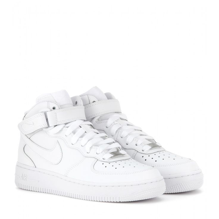 Nike Air Force Mid '07 leather high-top sneakers www.mytheresa.com