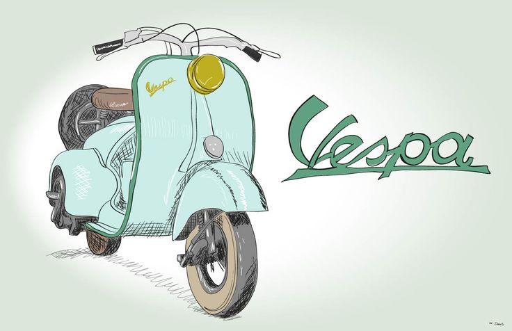 Motocicleta Vespa Illustrator
