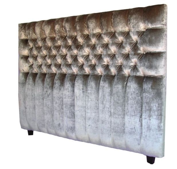 Danielle Single Buttoned Headboard by White Furniture Design  from Boyd Blue