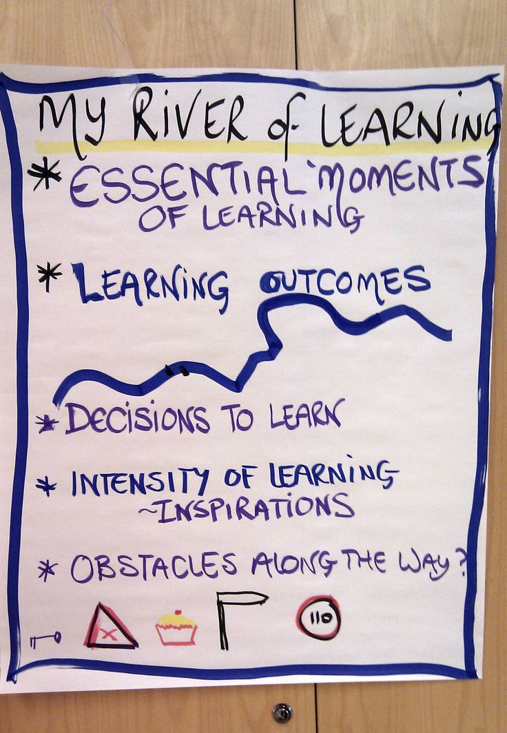 Create your own river of learning, reflect on your past experience.