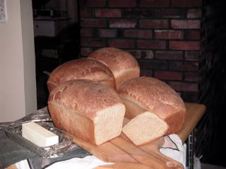 Nice Easy Bread, I do Sprouted Red Wheat & gluten instead of Dough Enhancer & Bob's Red Mill Yeast instead of SAF