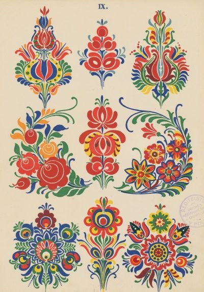 ukážka - folkloric patterns