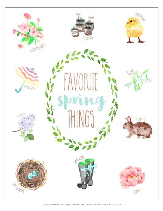 Favorite Spring Things Free Printable SPRING - Printables Free
