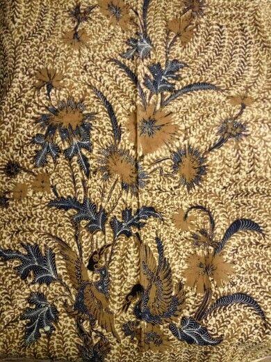 Batik buketan sogan ganggeng,origin solo year 1950.