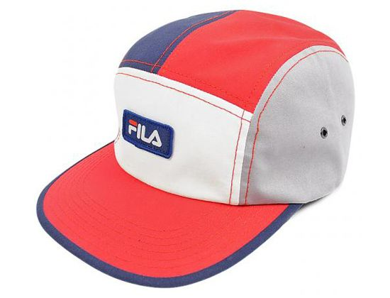 0a497d49 Multi Logo Patch 5 Panel Cap by FILA | Headwear in 2019 | Hats, Hat  patches, Five panel hat