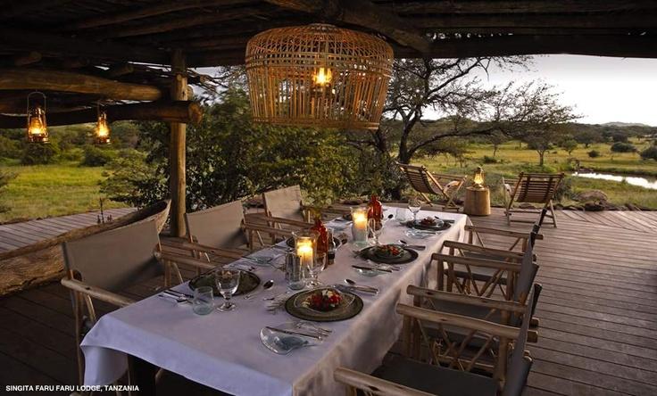 Singita Faru Faru Lodge dining room, Tanzania from Luxury Culture
