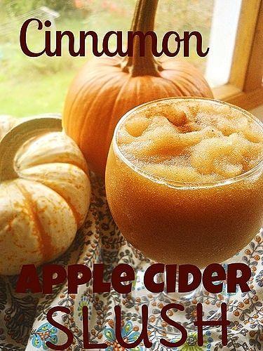Cinnamon Apple Cider Slush
