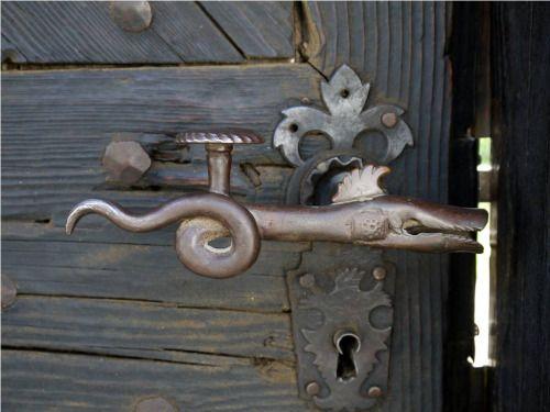 """theegoist: """" Serpent shaped door handle from Torockó (Rimetea), Transylvania. """""""