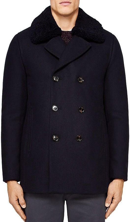 Ted Baker Frost Wadded Wool Overcoat