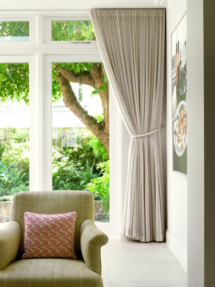 Fulham Family Home Kitchen Dining Lounge Curtain and Armchair detail