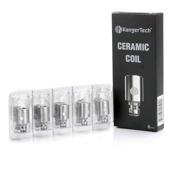 5 Pack of <strong>Kangertech Ceramic Coils</strong> - (0.5 ohm)