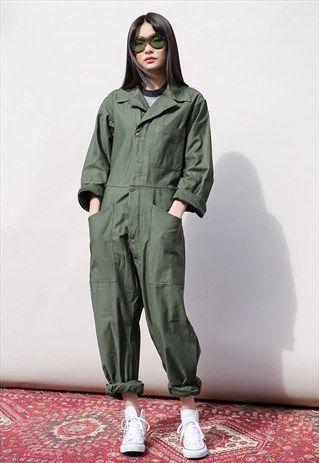 Vintage+Military+Boiler+Suit