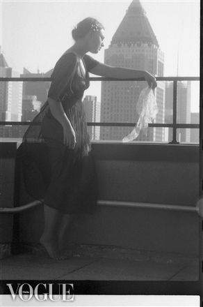PhotoVogue..Rooftop Farewell Model:Anastasia Arteyeva Verdant Luminul Environmental Print New York 2012 Francis A Willey