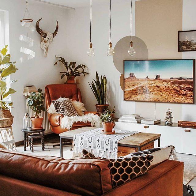 Boho Living Room Decor Featuring The Samsung Frame Tv Parkergwen Boho Living Room Decor Boho Chic Bedroom Boho Living Room