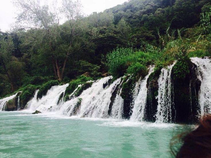 """Cascada de Tamul"" Huasteca Potosina SLP  Río Tampaón antes de llegar a la Cascada de Tamul."