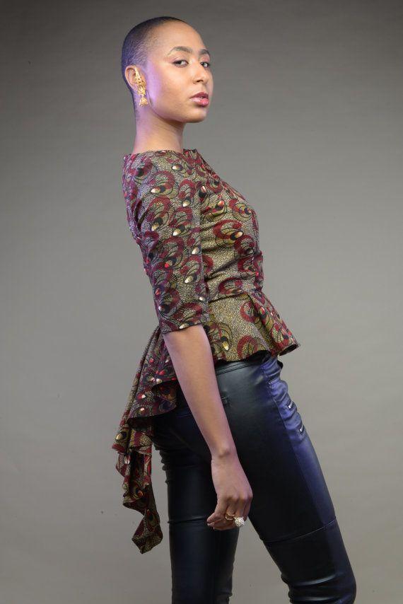 peacock-peplum-top-by-gitas #Ankara #african fashion # ...