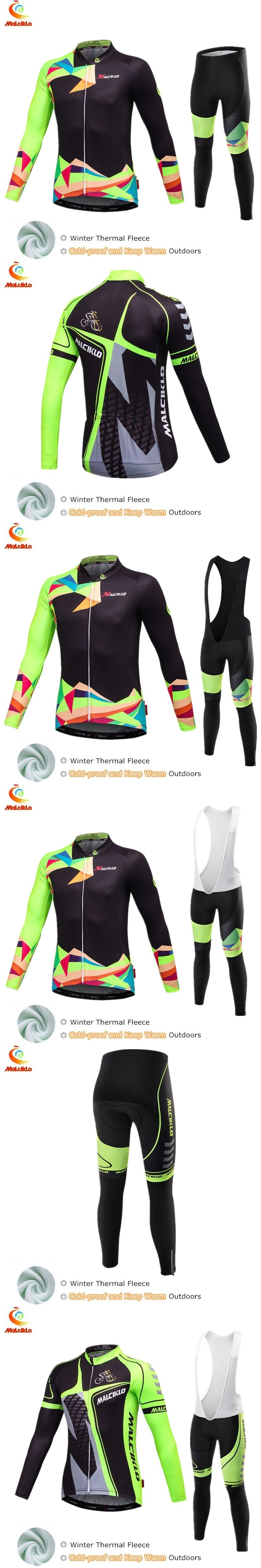 Malciklo Maillot Cycling Sets Clothing Winter Thermal Cycling Jersey 2017 Pro Team Bike Wear Clothes Ropa Ciclismo Invierno