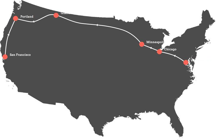 The Passport Express Route Map: DC to San Francisco