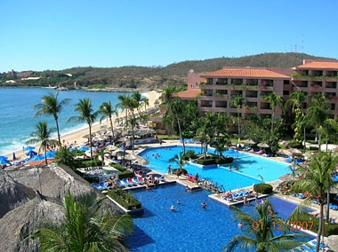 The Barcelo Resort in Huatulco, Mexico.  It was a pretty nice resort.  Rooms were dated but very clean.