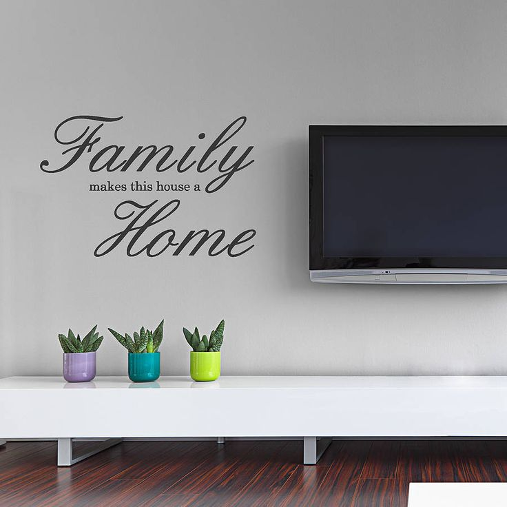 Family home wall sticker