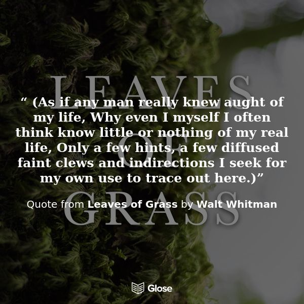 preface to leaves of grass Leaves of grass (first edition 1855 final edition 1892) is a book of poetry by walt whitmanwhitman revised and rearranged his masterwork many times after.
