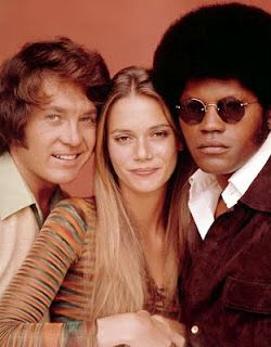 "'The Mod Squad' with Michael Cole, Peggy Lipton and Clarence Williams III. ""Must see TV"" for teens from 1968-1973."