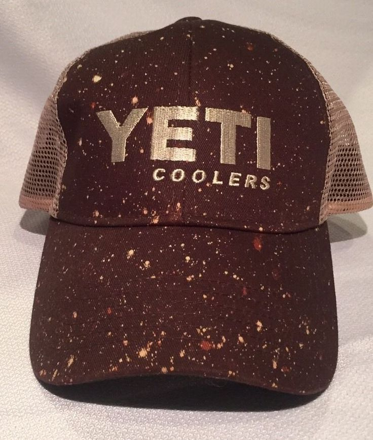 Yeti Coolers Brown Trucker Style Snapback Hat Cap NWOT Never Worn #YetiCoolers #Trucker