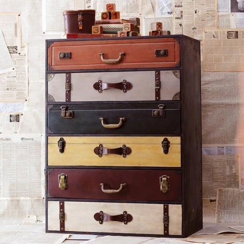 Make them feel like they're always ready to pick up and go with this chest of drawers.