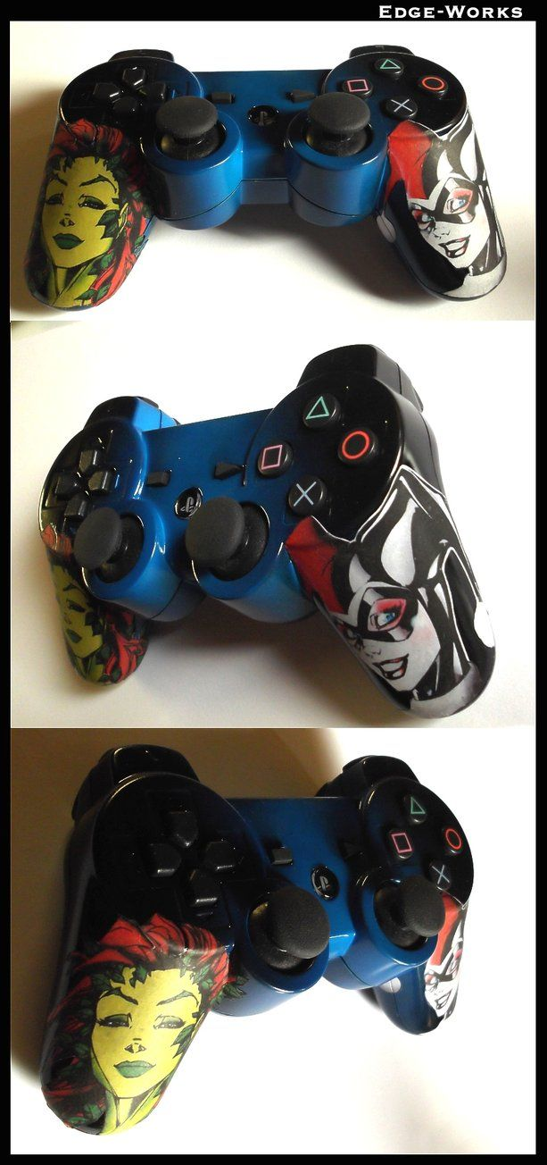 Harley Quinn and Poison Ivy - PS3 Controller by Edge-Works.  (I could never use it.  it's too pretty and I'm afraid of ruining it)