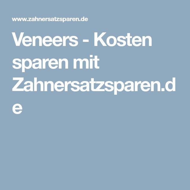 Veneers - Kosten sparen mit Zahnersatzsparen.de
