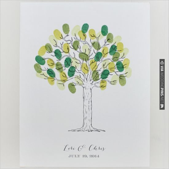 free tree thumbprint guest book printable | CHECK OUT MORE IDEAS AT WEDDINGPINS.NET | #printableweddingtemplates