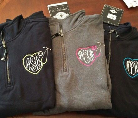 Monogram sweatshirts for nurses http://www.giftideascorner.com/gifts-college-student/