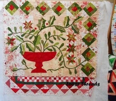 460 best quilts blackbird designs images on pinterest for Christmas garden blackbird designs