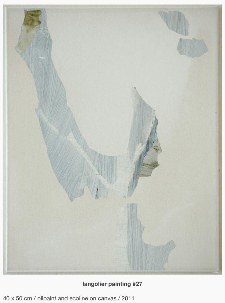 Erik de Bree - Langolier paintings. Wanneer bepaal je of iets beter is wanneer je iets weglaat?