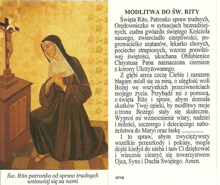 Modlitwa do Św. Rity