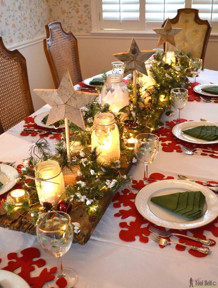 50 stunning christmas table settings christmas decor pinterest christmas christmas decorations and christmas table decorations - Diy Christmas Table Decorations