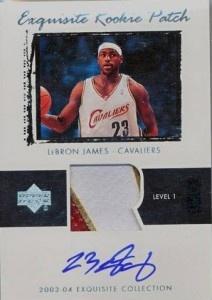 Exquisite LeBron James rookie card