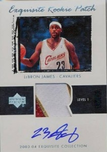 Exquisite LeBron James rookie card