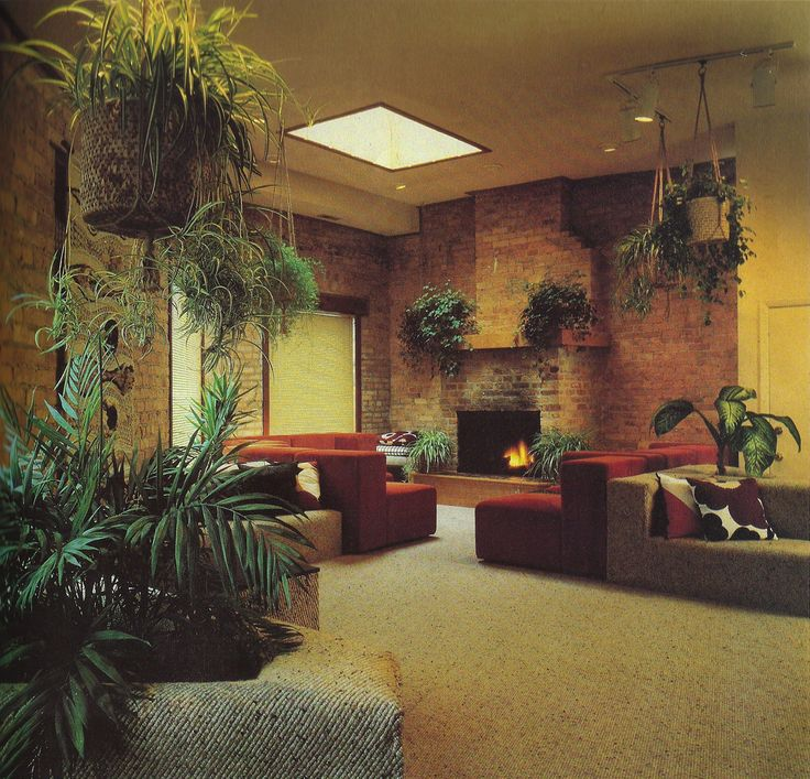 1000 images about 80s interiors on pinterest terence for Interior designs with plants