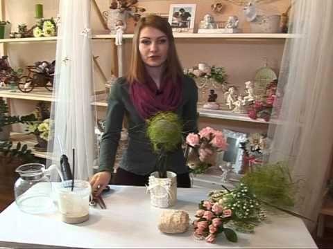 "Ангелина Комягина мастер-класс ""Топиарий"" - дерево счастья"