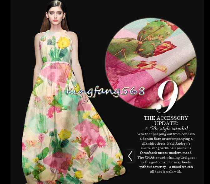 Купить товарВысокое качество 100% pure природные шелка шифоновая ткань одежды зеленый кактус розовые рубашки платья 1 метр X194 в категории Тканьна AliExpress.  описаниематериал: Натуральный шелк тутового шифонсостав: 100% шелкдлиной 1 метр, ширина 1.4 мтолщина: 8 mommeесли