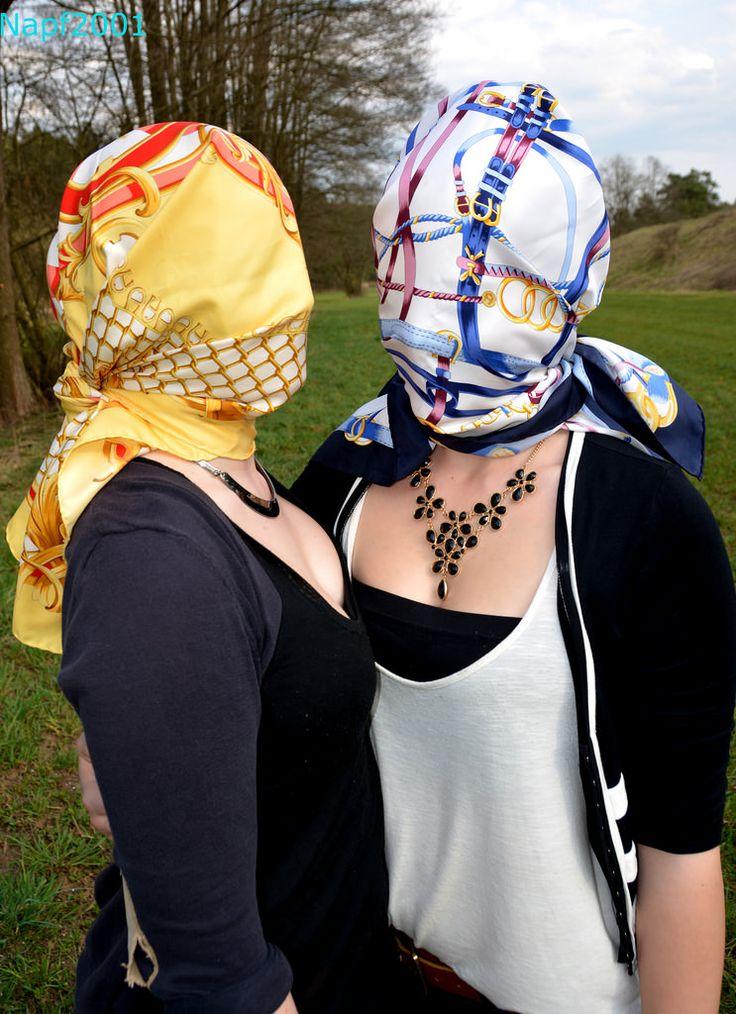 and fahion bondage Silk fetish scarf
