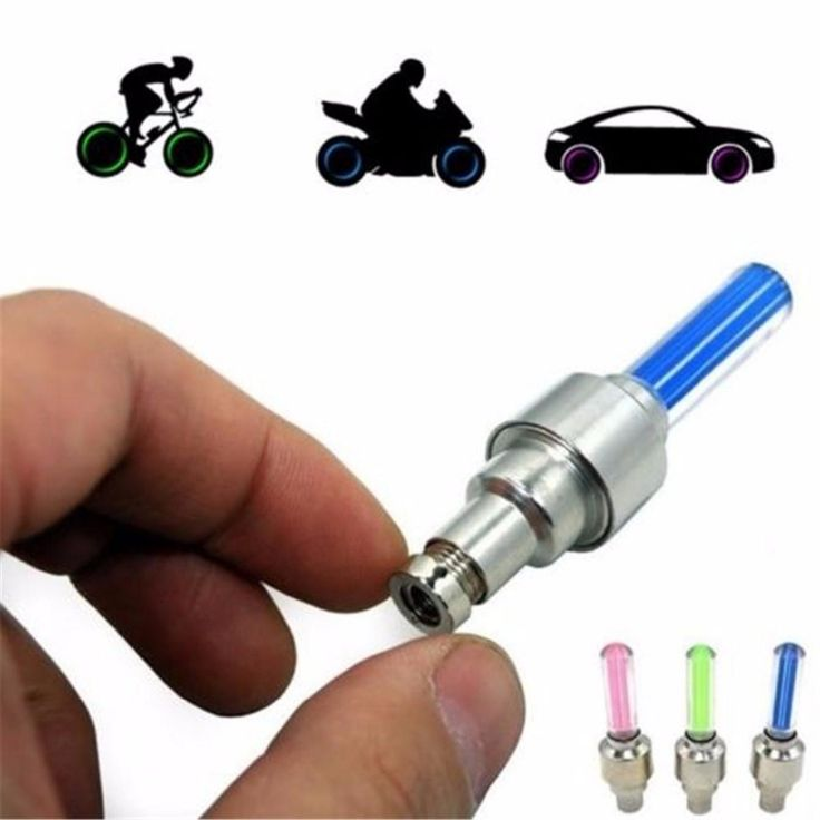 1 Pair With battery Bicycle Wheel Caps mountain road Car LED Neon Gas Nozzle Valve Glow Stick Light Cycling Tyre Tire spokes