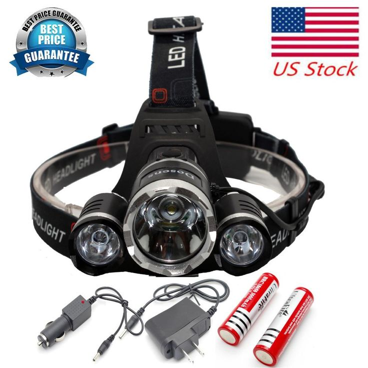 6000 Lumen Bright Headlight Headlamp Flashlight Torch 3 CREE XM-L 3T6 LED Car charger USA