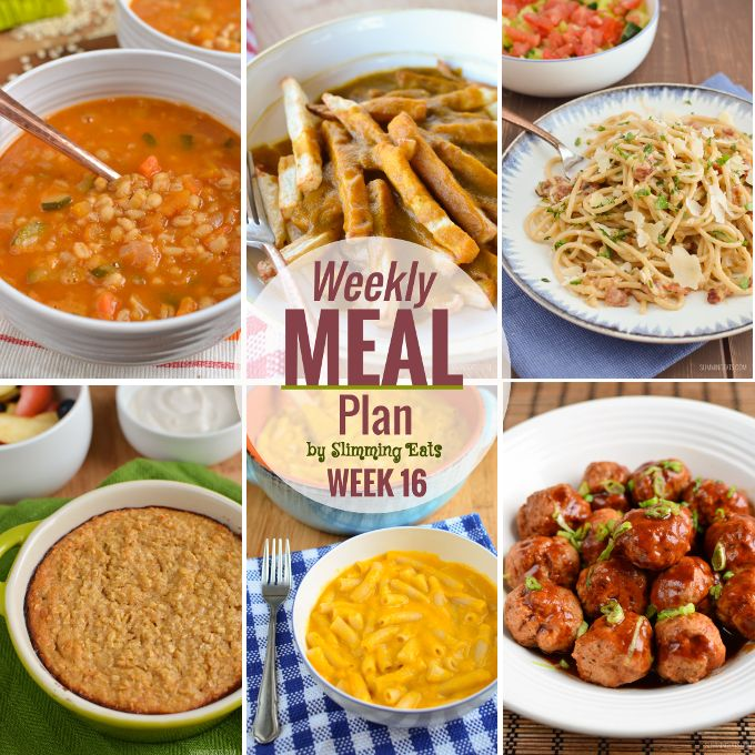 Slimming Eats Weekly Meal Plan – Week 16