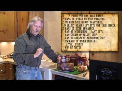 Recipes: Venison Neck Roast in a Crock Pot (video)